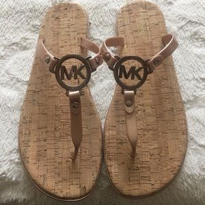 Michael Kors cork rosegold Sandals